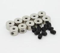 Tren de aterrizaje de ruedas detiene Set collar 6x1.1mm (10 piezas)