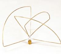 Polarizada circular 900MHz Transmisor Antena (SMA) (LHCP) (corto)