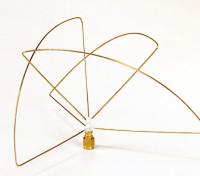 Polarizada circular 900MHz Transmisor Antena (RP-SMA) (LHCP) (corto)