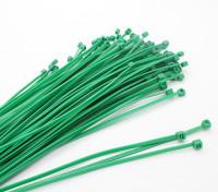 De uniones de cable 160 x 2,5 mm Verde (100pcs)