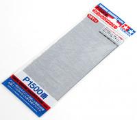 Acabado en húmedo / seco del papel de lija P1500 Grado Tamiya (3 piezas)