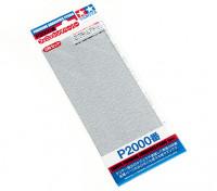 Acabado en húmedo / seco del papel de lija P2000 Grado Tamiya (3 piezas)