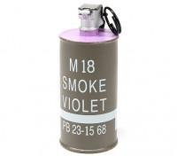 Dytac simulada M18 Decoración granada de humo (púrpura)