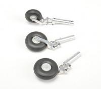 Aleación Oleo Strut establece w / ruedas de 90mm / 1.20 Clase Jet