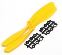 Turnigy Slowfly hélice 8x4.5 amarillo (CW) (2pcs)