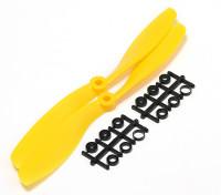 Turnigy Slowfly hélice 8x4.5 amarillo (CCW) (2pcs)