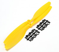 Turnigy Slowfly hélice 10x4.5 amarillo (CW) (2pcs)