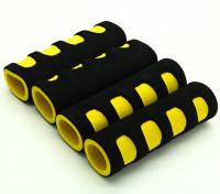 La espuma de EVA del cardán manija amarillo / negro (107x34x22mm) (4pcs)