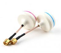 5.8GHz Antena circular polarizado Set-transmisor y el receptor (SMA)