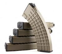 King Arms 600rounds revistas patrón de panal de Marui AK AEG (tierra oscura, 5pcs / caja)