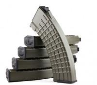 King Arms 600rounds revistas patrón de panal de Marui AK AEG (de color gris oliva, 5pcs / caja)