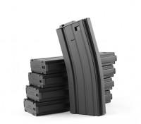 Rey de Armas 120rounds revistas de metal para la serie Marui M4 / M16 AEG (Negro, 5pcs / caja)
