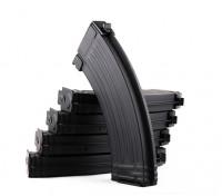 Rey de Armas 140rounds revistas de metal para la serie AK Marui AEG (Negro, 5pcs / caja)