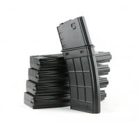 King Arms 130rounds revistas de estilo TangoDown para M4 AEG (Negro, 5pcs / caja)
