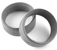 Equipo Sorex 24mm moldeadas del neumático Inserciones de tipo B Mediano (2 unidades)