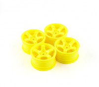 Barrer Mini 5 radios de la rueda Tipo A - amarillas (4pcs)