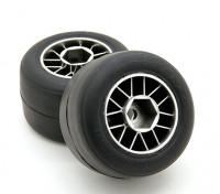 Ride Pre-encolada F104 posterior R1 alta Grip Compuesto Slick neumático de goma Conjunto (2pcs)