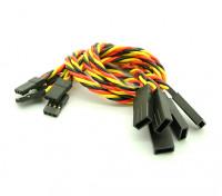 20cm JR 22 AWG trenzado extensión de cables de L a V 5pcs