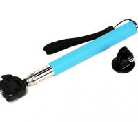 Monopolo leva de la acción de extensión (autofoto del Palo) 200 ~ 1070mm w / adaptador Azul