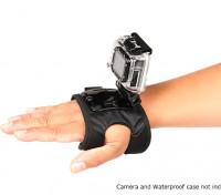 Guante de montaje ajustable para GoPro o Turnigy Cámaras de acción (grande)