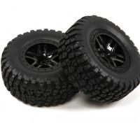 1 / 10th escala de 5 radios de Split Estilo Short Course Truck Ruedas y Neumáticos (2 piezas)