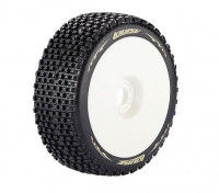 Louise B-PIRATA escala 1/8 Buggy neumáticos de compuesto blando / del borde blanco / Montada