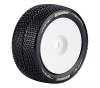Louise T-TURBO Neumáticos 1/8 Escala Truggy compuesto súper blando / 0 del desplazamiento / del borde blanco / Montada