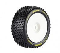 Louise T-PIRATA 1/8 Neumáticos escala Truggy compuesto súper blando / 1/2 del desplazamiento / del borde blanco / Montado