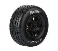 LOUISE SC-ROCKET 1/10 Escala de camiones Neumáticos delanteros Compuesto suave / Negro Borde / Montada