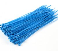 Sujetacables de 150 mm x 3 mm azules (100 piezas)