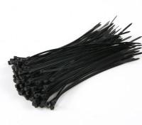 Sujetacables de 150 mm x 3 mm Negro (100 piezas)