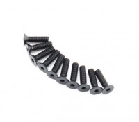 Plano del metal Machine Head Tornillo hexagonal M2.6x10-10pcs / set