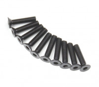 Plano del metal Machine Head Tornillo hexagonal M3x14-10pcs / set