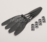 GWS Estilo Slowfly hélice 8x4.5 Negro (CW) (4pcs)