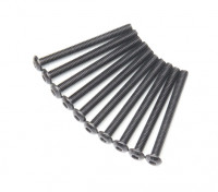 Ronda de metal Machine Head Tornillo hexagonal M3x32-10pcs / set