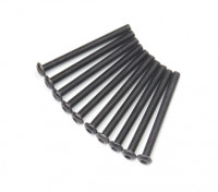 Ronda de metal Machine Head Tornillo hexagonal M3x34-10pcs / set