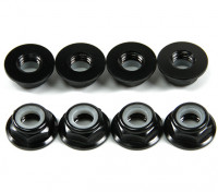 Brida de aluminio de perfil bajo Nyloc Tuerca M5 Black (CCAC) 8pcs