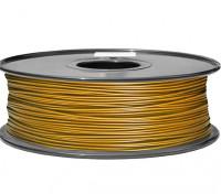 HobbyKing 3D Filamento impresora 1.75mm PLA 1kg Carrete (oro metálico)