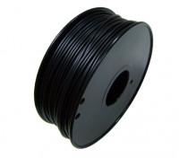 HobbyKing 3D Filamento Impresora 1,75 mm 0,8 kg flexible del carrete (Negro)