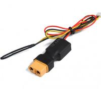 XT60 Inline Vuelo Paquete de tensión y del sensor de temperatura para el sistema de telemetría OrangeRx.