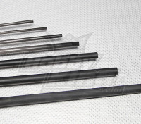 Tubo de fibra de carbono (hueco) 3x2x750mm
