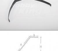 La fibra de carbono tren de aterrizaje (tamaño 15 cc)