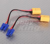 XT60 al adaptador de batería Losi EC2 (2pcs / bolsa)