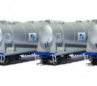 Southern Rail HO Scale 4 Car Set NSW NPRY/PRX Cement Hoppers with PTC Blue L7 Logo Series 1