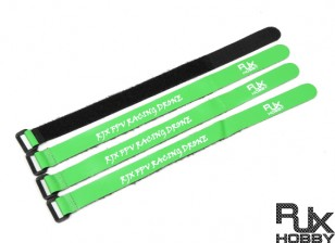 RJX Ultra-Grip Silicone Velcro Battery Straps Green (300X20mmx4pcs)