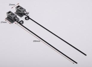 Plástico retrae mecánica D2.5 * L130mm