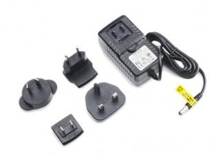 Fuente de alimentación de 12V 3A con adaptadores de conector macho (de Estados Unidos. UE, Reino Unido, AU)