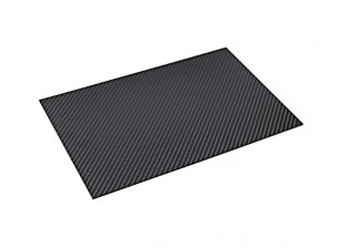 Lámina de fibra de carbono de 300 x 200 x 1,5 mm