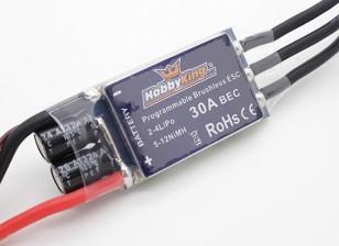 Controlador de velocidad sin escobillas HobbyKing 30A BlueSeries