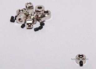 Tren de aterrizaje de ruedas detiene Set collar 9x4.1mm (10 piezas)